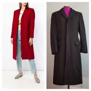 Ralph Lauren Blue Label Wool Velvet Collar Coat